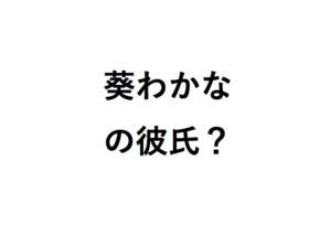 葵わかなの彼氏