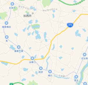 北条鉄道の地図