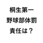 桐生第一野球部の監督解任!部長・コーチは誰でどんな体罰か・高校の責任と廃部の可能性は?