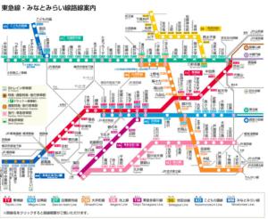 東急電鉄路線図