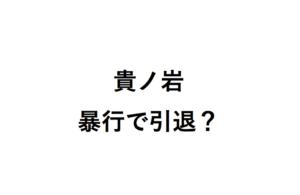 貴ノ岩暴行で引退