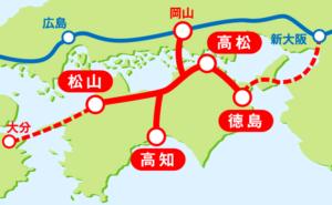 四国新幹線ルート